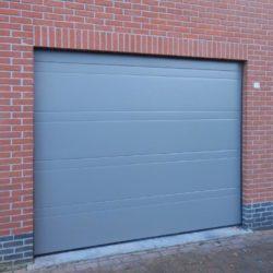 porte de garage grise – FT Châssis